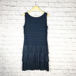 NWT St. John Navy Drop Waist Mini Dress